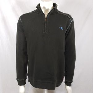 Tommy Bahama 1/4 zip Pullover sweater sz L